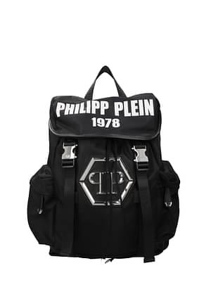 Philipp Plein Mochilas & Riñoneras Hombre Tejido Negro