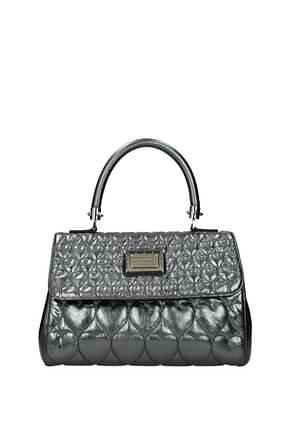 Philipp Plein Handtaschen Damen Leder Grau