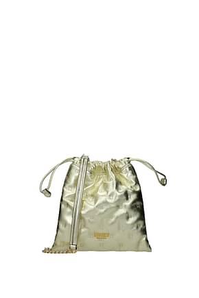 Moschino Clutches Women Leather Gold Platinum