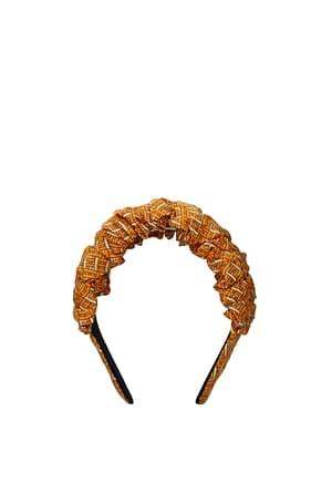 Fendi Hair accessories Women Silk Orange