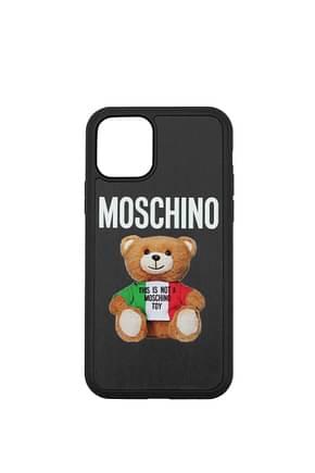 Moschino iPhone Taschen iphone 11 Pro Damen Polyurethan Schwarz