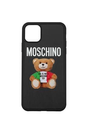 Moschino iPhone Taschen iphone 11 Pro max Damen Polyurethan Schwarz