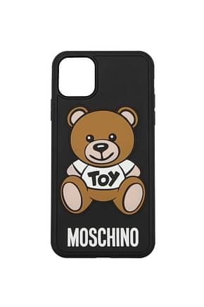 Moschino iPhone Taschen iphone 11 Pro max Damen PVC Schwarz