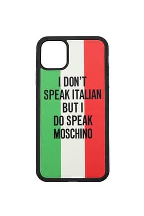 Moschino Fundas para iPhone iphone 11 Pro max Hombre Poliuretano Multicolor