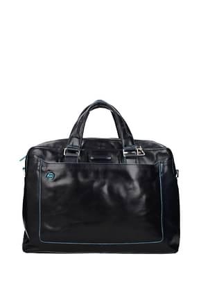 Piquadro Work bags Men Leather Blue Midnight Blue