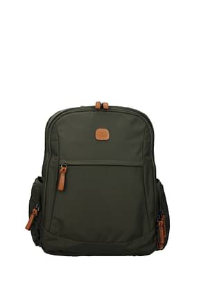 Bric's Backpack and bumbags Men Fabric  Green Olive