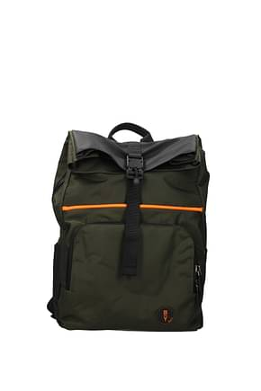 Bric's Backpack and bumbags be young Men Fabric  Green