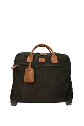 Bric's Wheeled Luggages Men PVC Green Olive