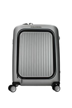 Piquadro Wheeled Luggages 39.5l Men Polycarbonate Silver Black