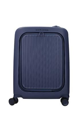 Piquadro Wheeled Luggages 39.5l Men Polycarbonate Blue Blue Navy