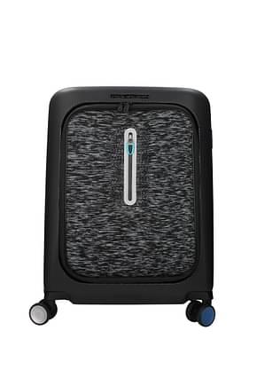 Piquadro Wheeled Luggages 39.5l Men Polycarbonate Black Grey