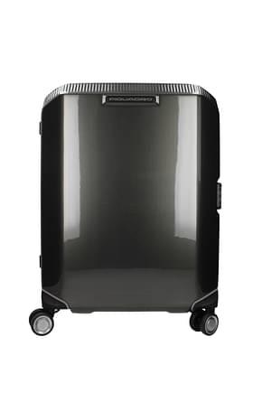 Piquadro Valises à roulettes cubica 34l Femme Polycarbonate Noir