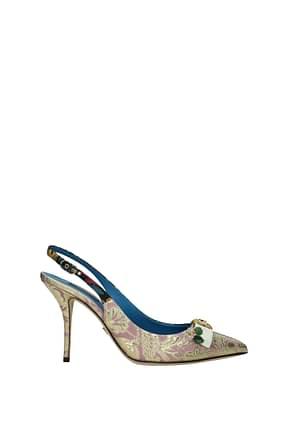 Dolce&Gabbana Sandali Donna Tessuto Multicolor