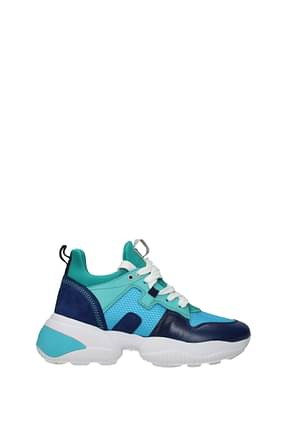 Hogan Sneakers interaction Donna Pelle Blu Verde Acqua