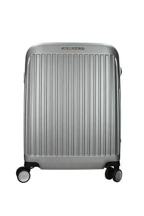 Piquadro Wheeled Luggages 39.5l Men Polycarbonate Silver