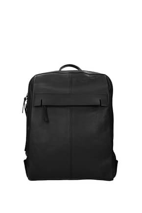 Piquadro Backpack and bumbags Men Leather Black