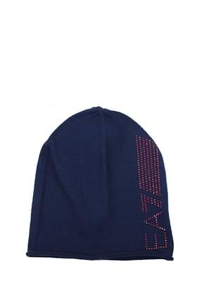 Armani Emporio Hats Women Acrylic Blue