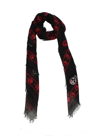 Alexander McQueen Foulard Women Silk Black