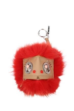 Fendi Key rings hypno bugs Women Fur  Orange