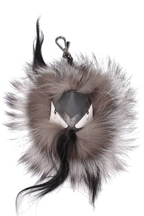 Fendi Key rings mostro cubo Men Fur  Gray