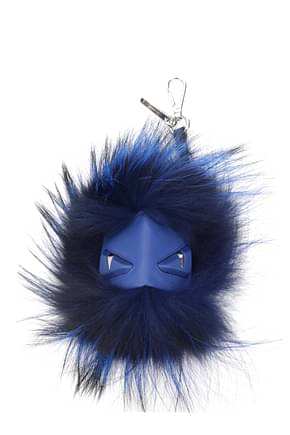 Fendi Key rings mostro cubo Men Fur  Blue