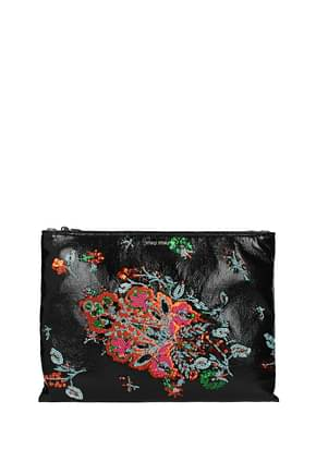 Miu Miu Clutches Women Fabric  Black