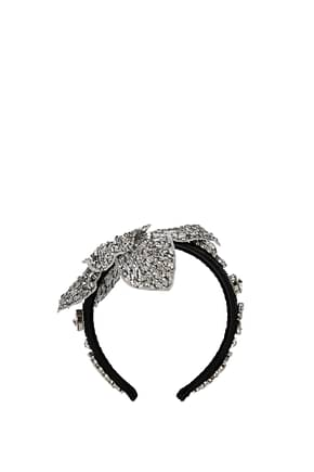 Dolce&Gabbana Hair accessories Women Fabric  Silver