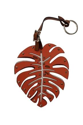 Valentino Garavani Key rings Women Leather Orange