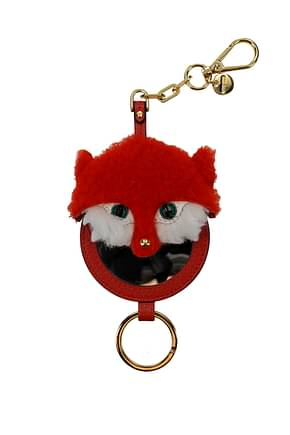Miu Miu Key rings Women Fur  Orange