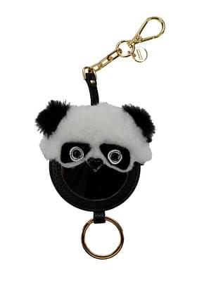 Miu Miu Key rings Women Fur  Black