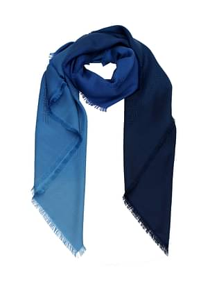 Fendi Foulard Men Silk Blue