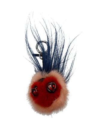 Fendi Key rings Women Fur  Red
