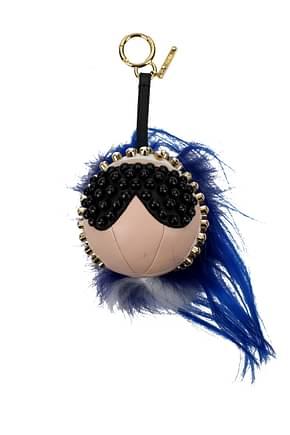 Fendi Key rings punkito Women Leather Blue