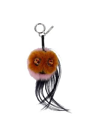Fendi Key rings Women Fur  Brown
