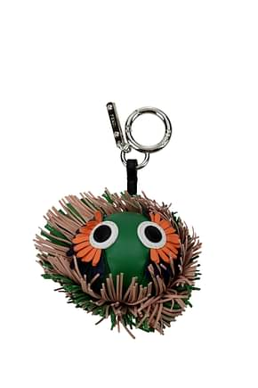 Fendi Schlüsselanhänger Damen Leder Grün