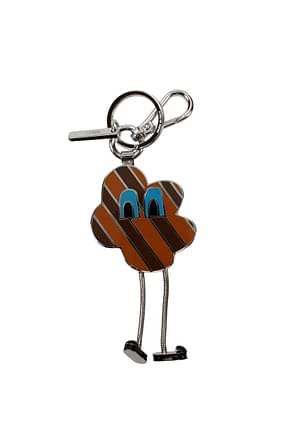 Fendi Key rings Women Metal Brown