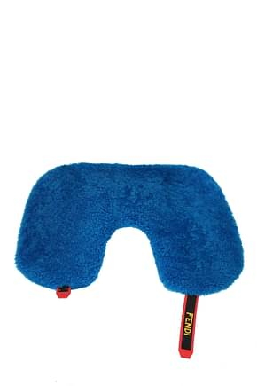 Fendi Gift ideas travel pillow Men Fur  Blue