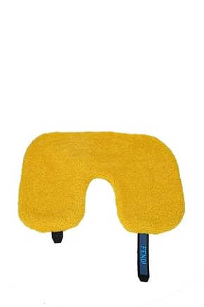 Fendi Gift ideas travel pillow Men Fur  Yellow