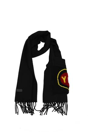 Fendi Scarves Men Wool Black