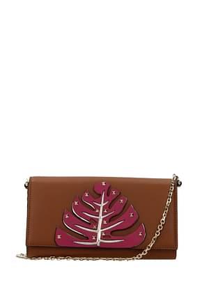 Valentino Garavani Wallets Women Leather Brown