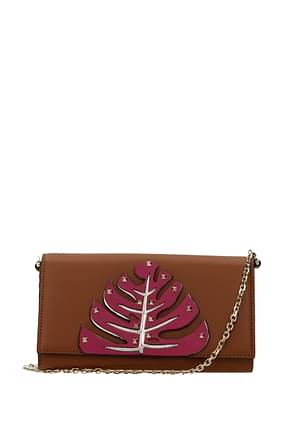 Valentino Garavani Wallets Women Leather Brown