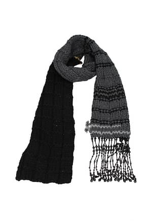 Prada Scarves Women Virgin Wool Gray