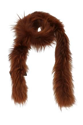 Prada Scarves Women Fox Brown
