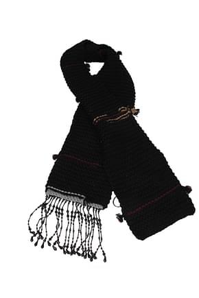Prada Scarves Women Virgin Wool Black