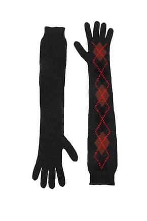 Prada Gloves Women Wool Gray