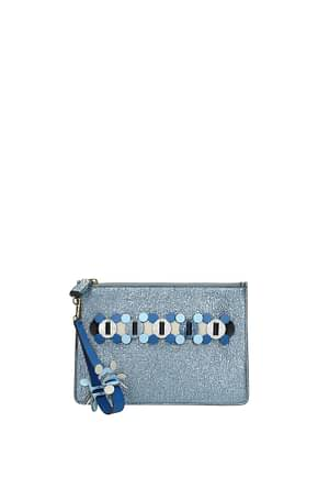 Anya Hindmarch Clutches Women Leather Blue