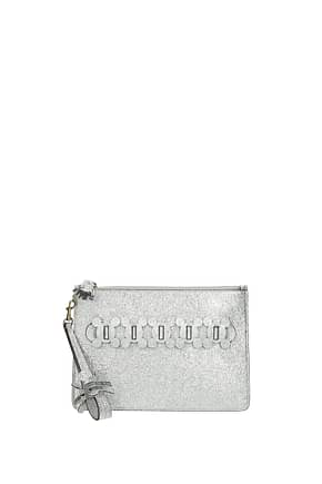 Anya Hindmarch Clutches Women Leather Silver