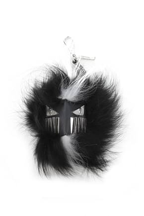 Fendi Pendants mostro cubo Men Fox Black