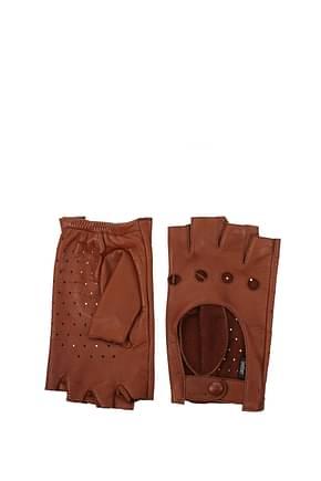 Zanellato Handschuhe Damen Leder Braun