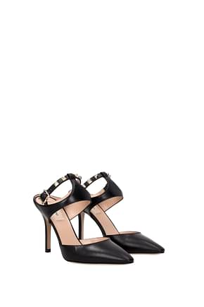Valentino Garavani Sandals Women Leather Black